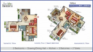 2 BHK Apartments at Fusion Homes