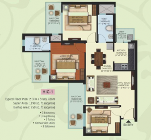 Mahagun Mywoods Coralwood Floor Plan