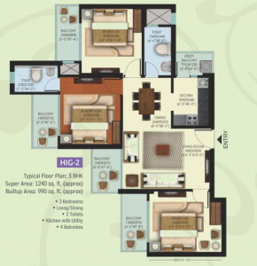 Mahagun Mywoods Fiddlewood Floor Plan