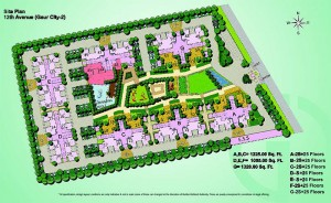 gaur city 12th sitemap