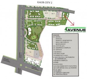 gaur city 4th avenue sitemap