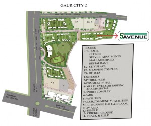 gaur city 1 5th avenue