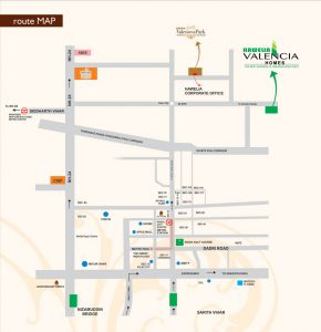Valencia Homes Location Map