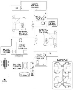 gaur city floor plan