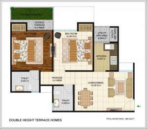 antriksh golf links floor plan