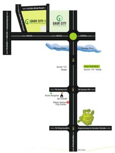 gaur city 12th avenue location map