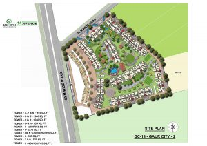 gaur city 14th avenue sitemap