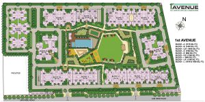 gaur city 1st avenue site plan