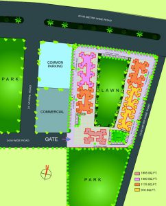 gaur city 4th avenue site plan