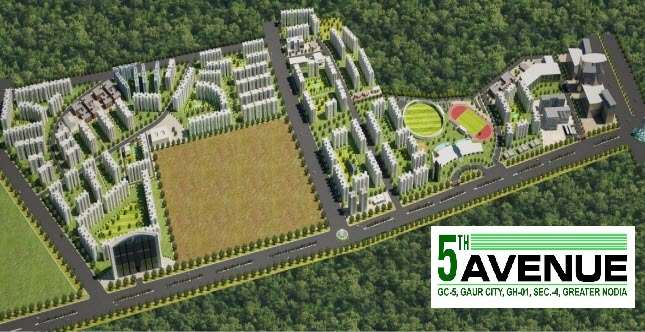 gaur city 5th avenue noida extension