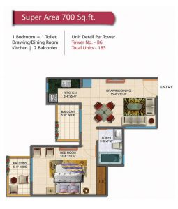 1 BHK Ready to Move Property in Noida Extension
